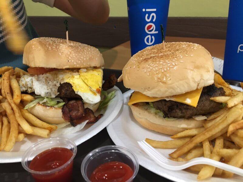 アメリカのハンバーガー